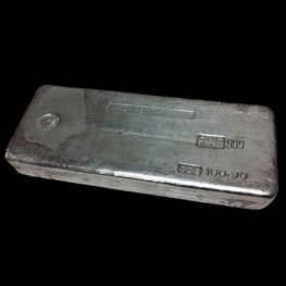 Perth Mint odd-weight poured silver bar