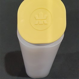 1oz Canadian Maple Silver Coin Yellow Tube Empty