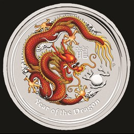 1kg Silver Lunar Dragon Coin 2012 (red) No Box