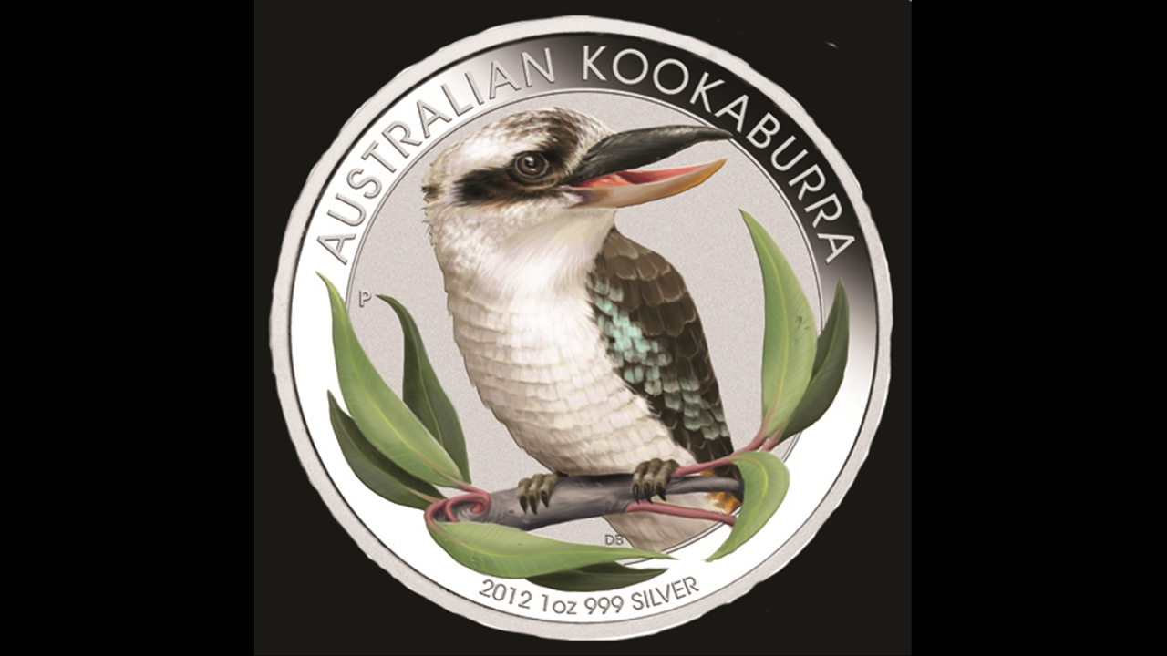 Bullion List Browse 1oz Silver Kookaburra Color Coin 2012