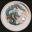 1oz Silver Lunar Dragon Colored Coin (Dark Blue)