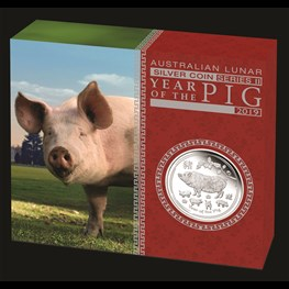 1/2oz PM Silver Lunar Pig Proof Coin 2019 in stock