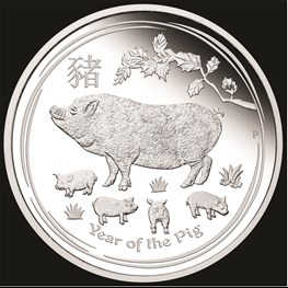 1oz Silver Lunar Pig Typeset Collection