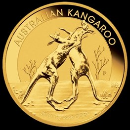1oz Gold Kangaroo 2010