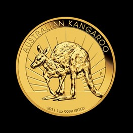 1oz Gold Kangaroo 2011