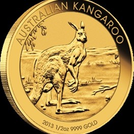 1/2 oz Gold Kangaroo 2013