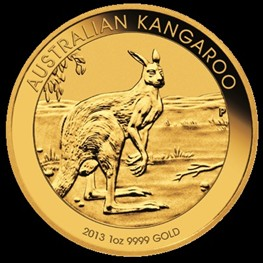 1oz Gold Kangaroo 2013