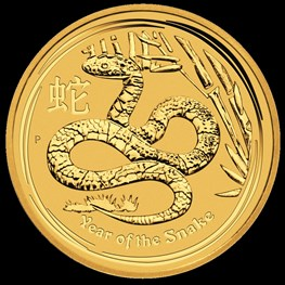 1/2 oz Gold Lunar Snake 2013