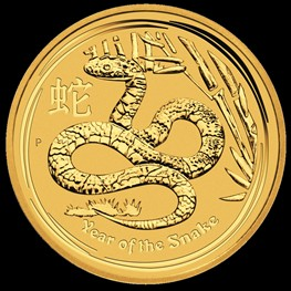 1/4 oz Gold Lunar Snake 2013
