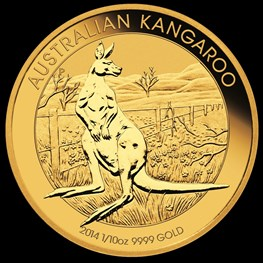 1/10 oz Gold Kangaroo 2014