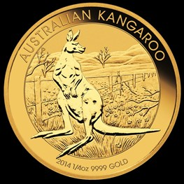 1/4 oz Gold Kangaroo 2014