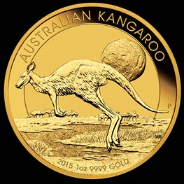 1oz Gold Kangaroo 2015