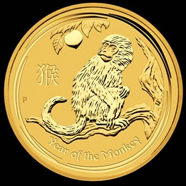 1oz Gold Lunar Monkey 2016