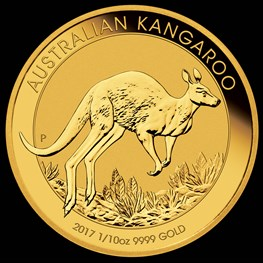 1/10 oz Gold Kangaroo 2017