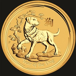 1/10oz Gold Lunar Dog 2018
