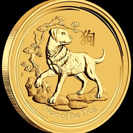 1/20oz Gold Lunar Dog 2018