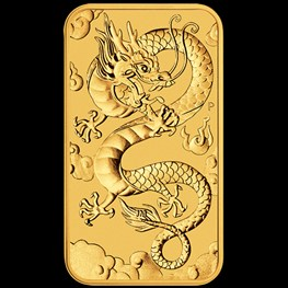 1oz Gold Rectangle Dragon Coin 2019