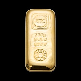250g ABC Bullion Gold Cast Bar