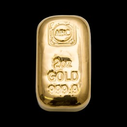 2oz ABC Bullion Gold Cast Bar