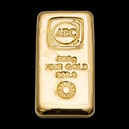 500g ABC Bullion Gold Cast Bar