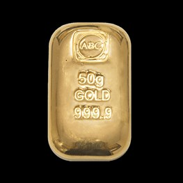 50g ABC Bullion Gold Cast Bar