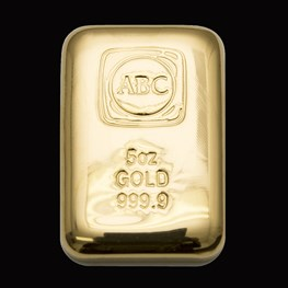 5oz ABC Gold Bullion Cast Bar