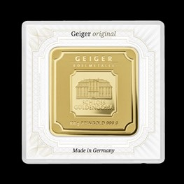 100g Gold Geiger Square Bar (Capsule)