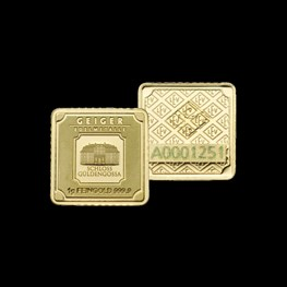 1g x25 Gold Geiger Square Bar (Capsule)