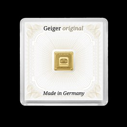 1g Gold Geiger Square Bar (Capsule)