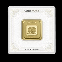 1oz Gold Geiger Square Bar (Capsule)