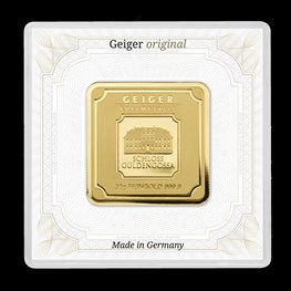 50g Gold Geiger Square Bar (Capsule)