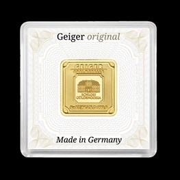 5g Gold Geiger Square Bar (Capsule)