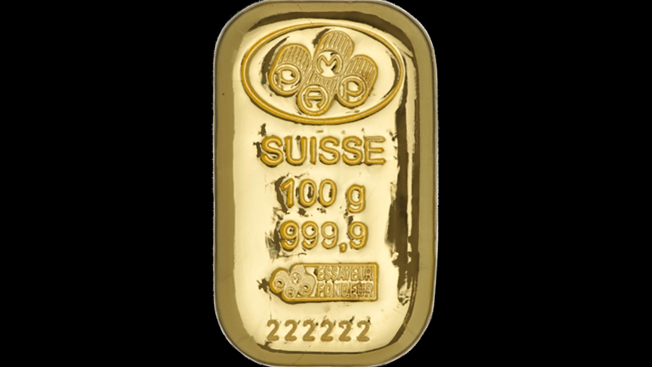 Bullion List Gold Pamp 100g Pamp Gold Bar Cast