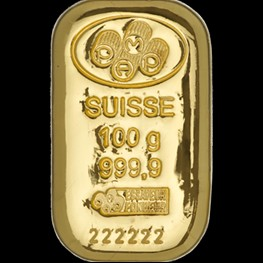 100g PAMP Gold Bar 'Cast'