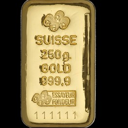 250g PAMP Gold Bar 'Cast'