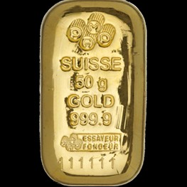 50g PAMP Gold Bar 'Cast'