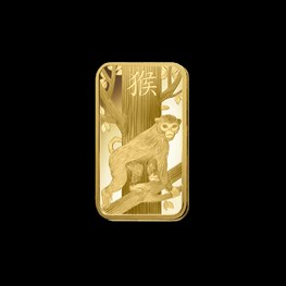 100g Gold PAMP Lunar 'Monkey'