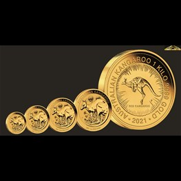 1/10oz Perth Mint Gold Kangaroo Coin 2021