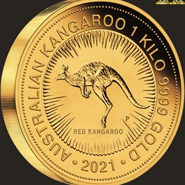 1kg Perth Mint Gold Kangaroo Coin 2021 PS