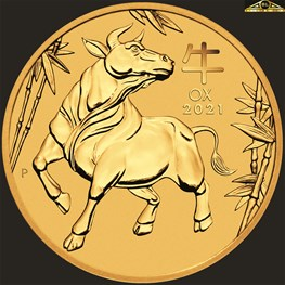 1/20oz Perth Mint Gold Ox Coin 2021
