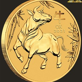 10oz Perth Mint Gold Ox Coin 2021 PS