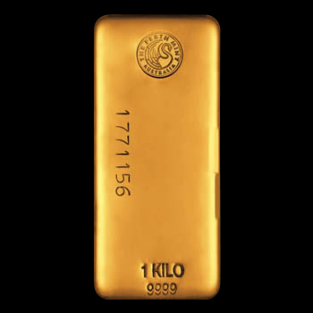 1kg Perth Mint Gold Bar 'Cast'