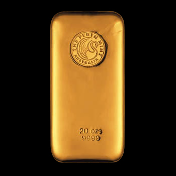20oz Perth Mint Gold Bar 'Cast'