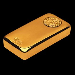 20oz Gold Perth Mint Bar 'Cast'