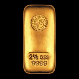 2.5oz Gold Perth Mint Bar 'Cast'