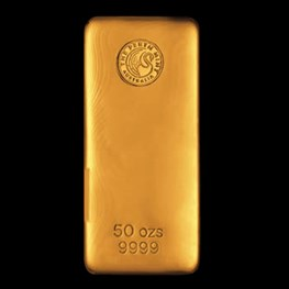 50oz Perth Mint Gold Bar 'Cast'