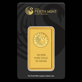 50g PM Gold Bar (Black Swan Certicard) pre order