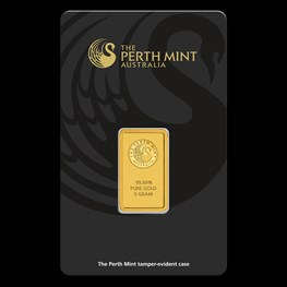 5g Perth Mint Gold Bar (Black Swan Certicard)