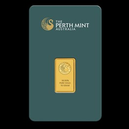 10g Perth Mint Gold Bar (Certicard)
