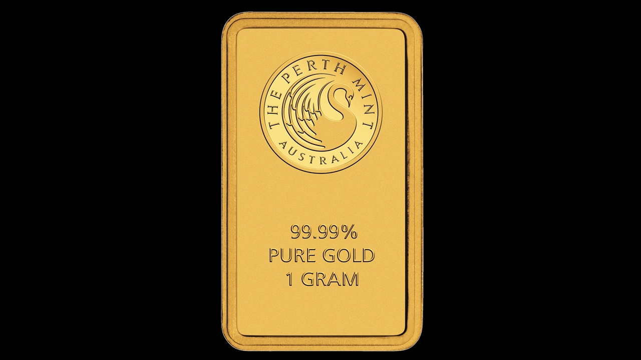 Bullion List Browse Gold Bars 1g Perth Mint Gold Bar